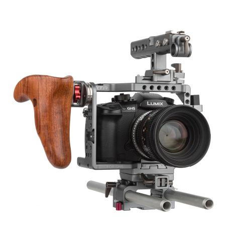 Tilta ES-T37-A Panasonic GH4/GH5 Rig with Wooden Handle by Tilta