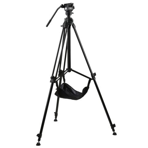 E-Image EG03FA3 Rising Column Tripod Kit with GA230 and GH03F by E-Image