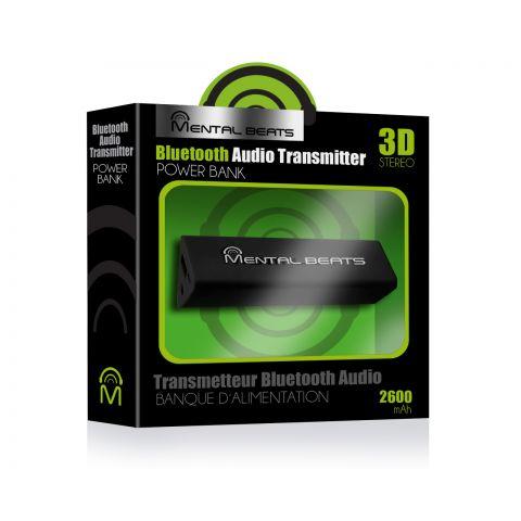 Mental Beats 2600 mah Bluetooth Battery Bank - Black by Mental Beats