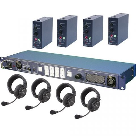 Datavideo ITC-100HP1K Wired Intercom System with 4 Headsets by Datavideo