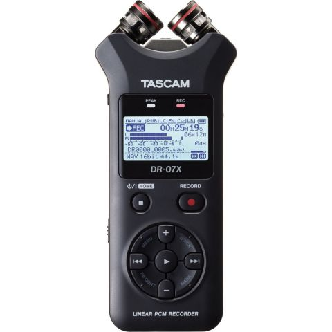 Tascam DR-07X Stereo Handheld Digital Audio Recorder and USB Audio Interface by Tascam