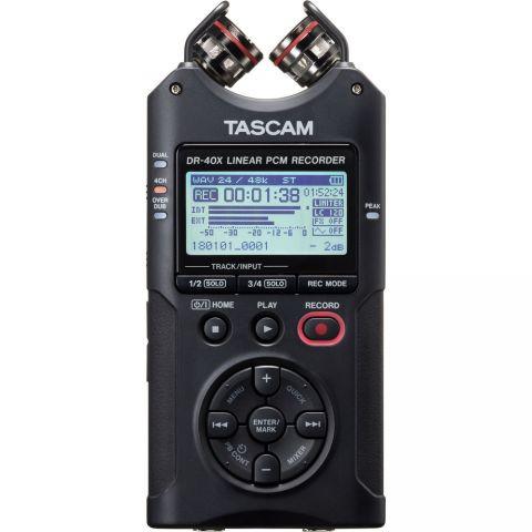 Tascam DR-40X 4-Track Handheld Digital Audio Recorder by Tascam