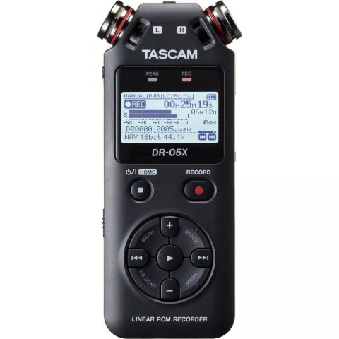 Tascam DR-05X Stereo Handheld Digital Audio Recorder and USB Audio Interface by Tascam