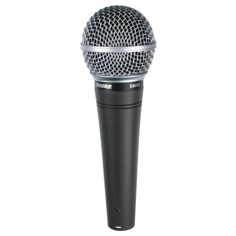 Shure SM48-LC Cardioid Dynamic Handheld Wired Microphone. by Shure