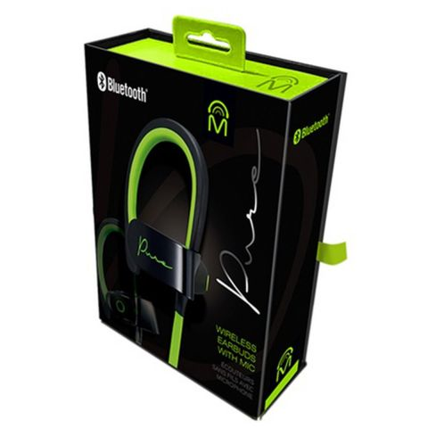 Pure Bluetooth Earbuds With Microphone - Green/Black by Pure
