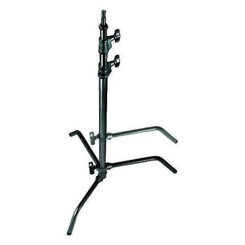 Avenger 10.75' C-Stand, Double Riser with One Sliding Leg, Black Steel. by Avenger