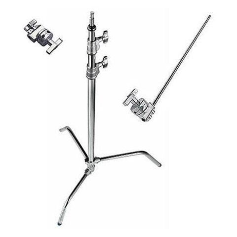 "Avenger 10.76' C-Stand 33 Kit with Sliding Leg, 40"" Extension Arm / 2.5"" Grip Head 3 Sections, 2 Risers, Chrome by Avenger"
