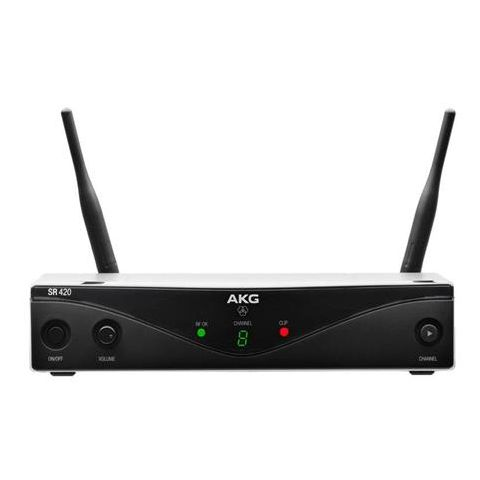 AKG Acoustics SR420 8 Channel Wireless Stationary Receiver, Band U2: 614100-629900MHz by AKG