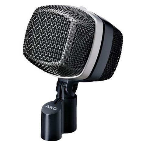 AKG Acoustics D12 VR Large Diaphragm Cardioid Dynamic Kick Drum Microphone with 3 Active Sound Shapes, 17-17000Hz Frequency Response,