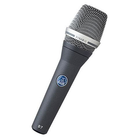 AKG Acoustics D7 Supercardioid Reference Handheld Dynamic Vocal Microphone, 70Hz-20kHz Frequency Response, 2000 Ohms Load Impedance, 3-pin Male XLR by AKG