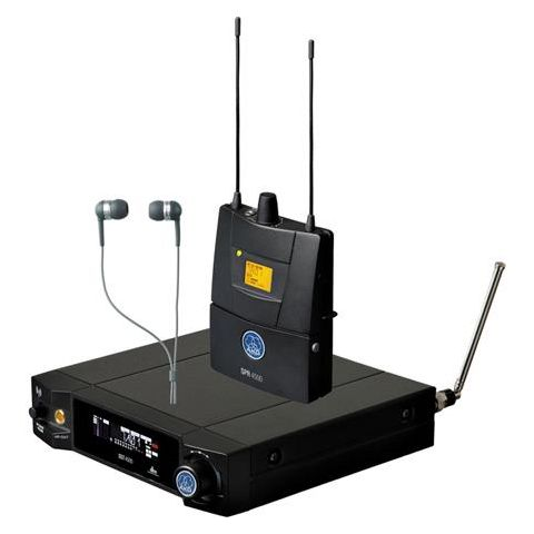 AKG Acoustics IVM4500 IEM Set Reference Wireless In-Ear Monitoring System, SST4500 Transmitter, SPR4500 Body-Pack Receiver, IP2 Headphone, Band 8 570.1-600.5MHz by AKG