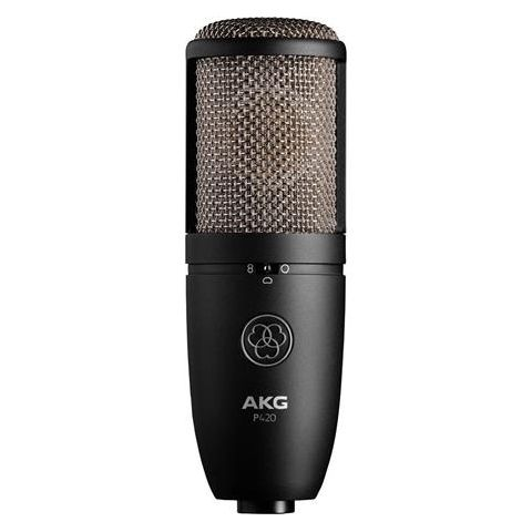 AKG Acoustics P420 Large Diaphragm Dual-Capsule True Condenser Microphone with Switchable Polar Patterns, 20Hz-20kHz Frequency Response by AKG