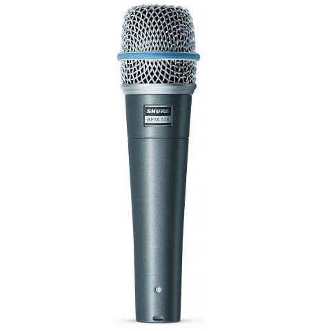 Shure Beta 57A Super-Cardioid Handheld High Output Dynamic Microphone for Instrument & Vocal. by Shure