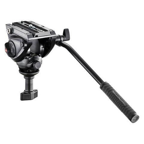Manfrotto MVH500A Professional Fluid Video Head, 60mm Half Ball, 5kg / 11.02 lbs Payload by Manfrotto