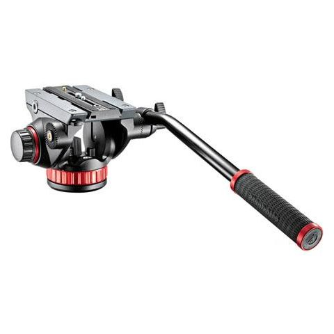 """Manfrotto MVH502AH Pro Video Head with Quick-Release and Flat Base (3/8""""-16 Connection), Supports 8 lbs by Manfrotto"""