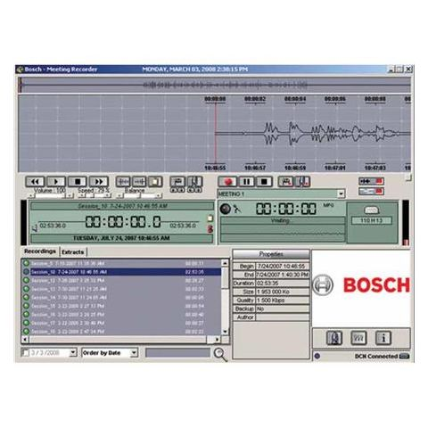 Bosch DCN-MRT Meeting recorder software - transcription module by Bosch
