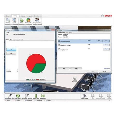 Bosch DCN-SWPV-E Conference Software Parliamentary Voting, E-code by Bosch