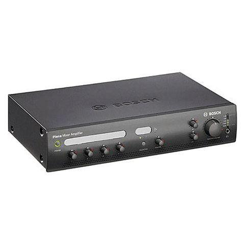 Bosch PLE-1MA120 120Watt Plena Mixer Amplifier, 50Hz-20kHz Frequency Response, Charcoal by Bosch
