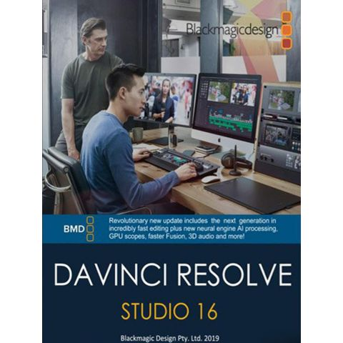 Blackmagic Design DaVinci Resolve 16 Studio (Activation Card) by Blackmagic Design