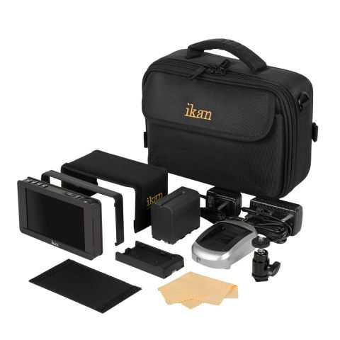 Ikan DH5e-DK-C DH5e 4K Support HDMI On-Camera Monitor Deluxe Kit for Canon 900 by Ikan