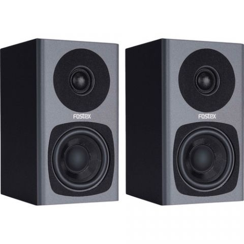 Fostex PM0.3 2-Way Powered Monitor Speaker System (Gray) by Fostex