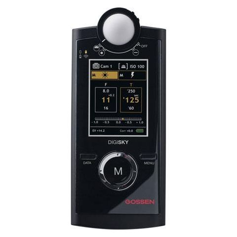 Gossen GO 4039 Digisky Digital Exposure Meter for Flash & Ambient Light, TFT-LCD Color Graphic Display, 1/1000 to 1sec Flash Synch Speeds by Gossen