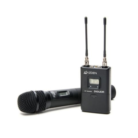 Azden 310HT UHF Wireless Mic System with Handheld Mic Transmitter by Azden