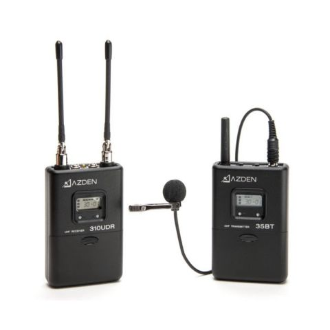 Azden 310LT UHF Wireless Mic System with Bodypack Transmitter by Azden
