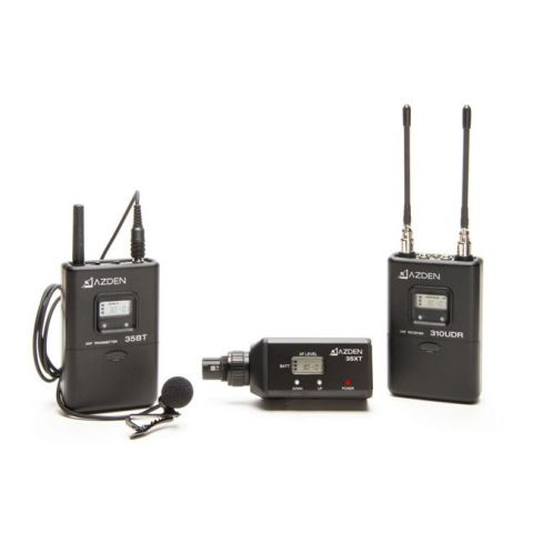 Azden 310LX UHF Wireless Mic System with Bodypack and XLR Plug-in by Azden
