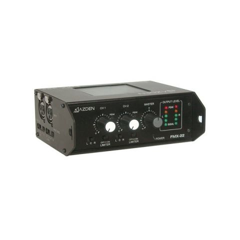 Azden FMX-22 Professional Portable Mixer with Two XLR Inputs by Azden