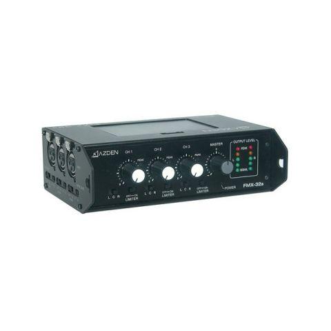 Azden FMX-32a Professional Portable Mixer with 3 XLR Inputs by Azden