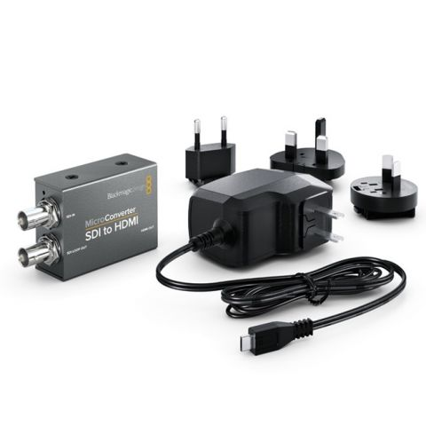Blackmagic Design CONVCMIC/SH/WPSU Micro Converter - SDI to HDMI with Power Supply by Blackmagic Design
