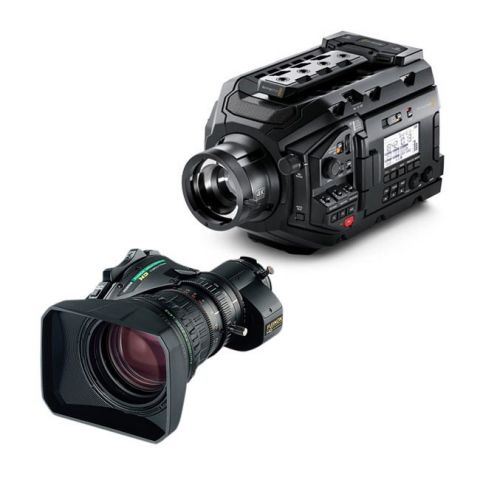 Blackmagic URSA Broadcast Camera & Fujinon 5BERM-K3 MS-01 Semi Servo Rear Control Accessory Kit by Blackmagic Design