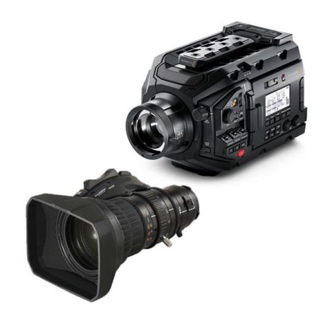 Blackmagic URSA Broadcast Camera & Fujinon 5BRM-K3 MS-01 Semi Servo Rear Control Accessory Kit by Blackmagic Design