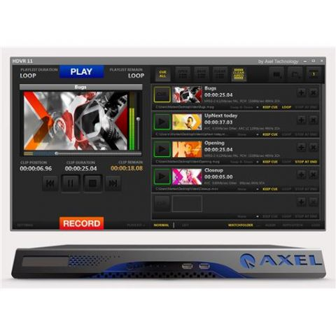 Axel YOUPLAY SERVER 1CH-NS Broadcast & Production Video Server by Axel