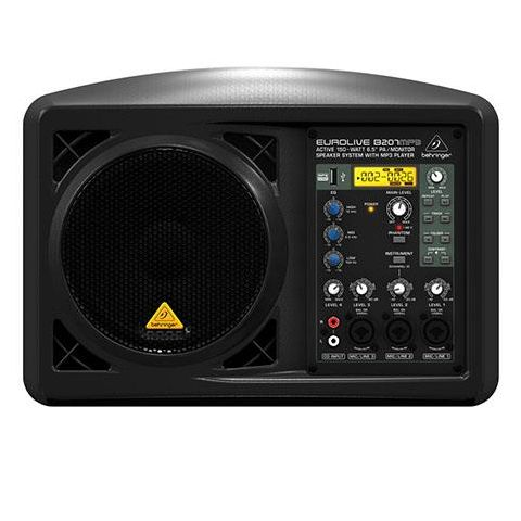 """Behringer Eurolive B207MP3 Active 150-Watt 6.5"""" Powered PA/Monitor System with MP3 Player by Behringer"""