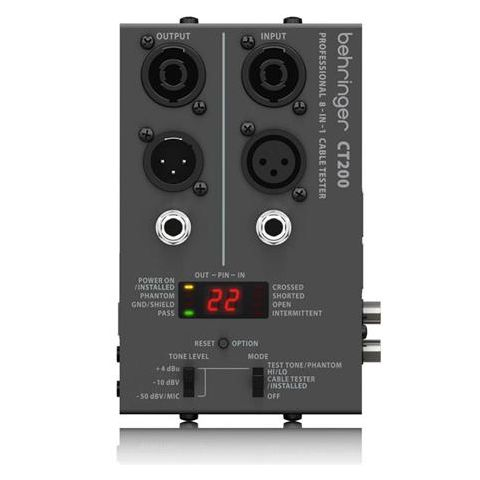 Behringer CT200 Microprocessor-Controlled 8-in-1 Cable Tester by Behringer