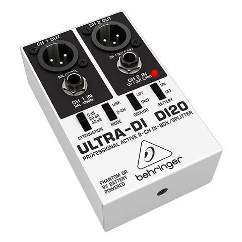 Behringer Ultra-DI DI20 Professional Active 2-Channel DI-Box/Splitter by Behringer