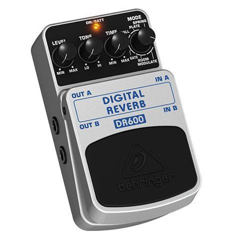 Behringer Digital Reverb DR600 Stereo Effects Pedal,  1k Ohms Output Impedance by Behringer
