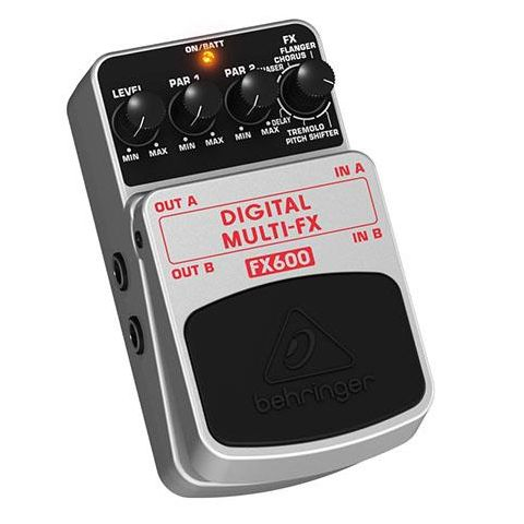 Behringer Digital Multi-FX FX600 Stereo Multi-Effects Pedal,  1kOhms Output Impedance by Behringer