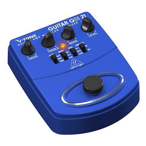 Behringer GDI21 V-Tone Guitar Amp Modeler/Direct Recording Preamp/DI Box,  1K Ohms Output Impedance by Behringer