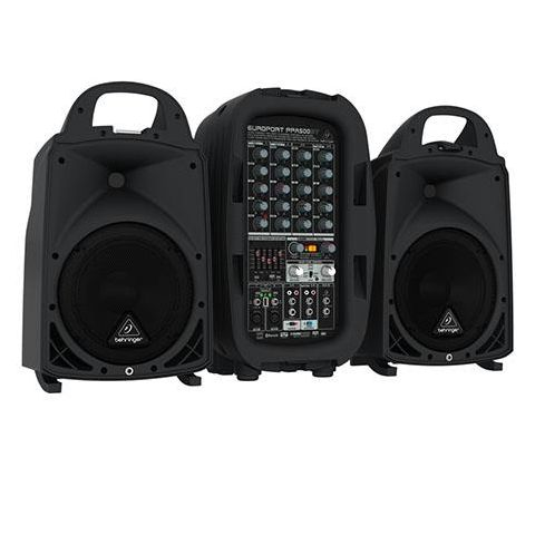 Behringer Europort PPA500BT Ultra-Compact 500-Watt 6-Channel Portable PA System with Bluetooth Technology,  Wireless Microphone Option by Behringer