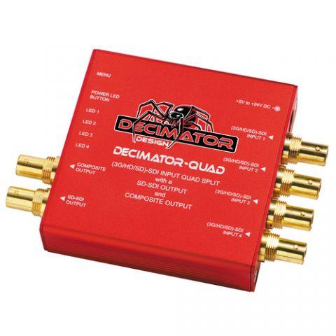 DECIMATOR  QUAD 4 Channel Multi-Viewer with SDI & Composite Outputs by Decimator