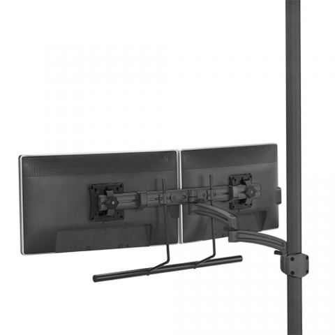 Chief Kontour'Ñ¢ K2P Dynamic Pole Mount, Dual Monitor Array by Chief