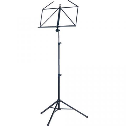 K&M 10065 Three-Piece Folding Sheet Music Stand (Black) by KM