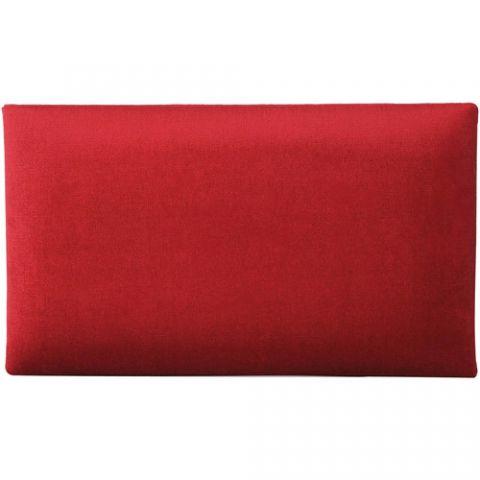 K&M 13802 Velvet Seat Cushion (Red) by KM
