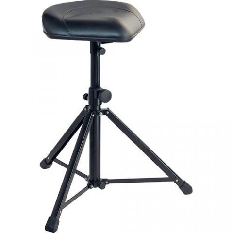 K&M 14052 Multi-Purpose Stool (Black Imitation Leather) by KM