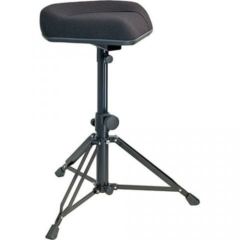 K&M 14056 Ergonomic Drummer's Throne (Black Fabric) by KM