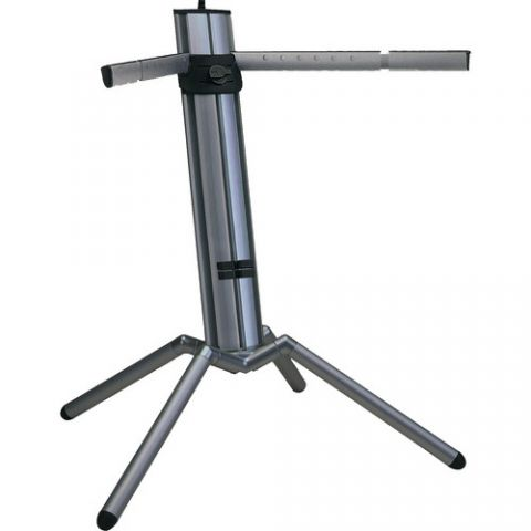 K&M 18840 Baby Spider Pro Keyboard Stand (Black Aluminum) by KM
