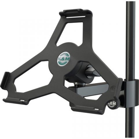 K&M iPad Air 2 Holder for Stand Tube Up to 33mm (Black) by KM